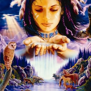 Native American (1) Greetings Card & Music CD